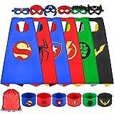 Sinoeem Superhelden Kostüm Kinder 6 Stücke Spielzeug Kostüm mit...