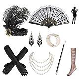 Nabance 20er Jahre Accessoires Gatsby Accessoires 1920s Kostüm Damen...