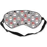 Sleeping Eye Mask,Weihnachts-Weihnachtsmann Mit Sternen Auf Grauem...