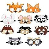 JAHEMU Tiermasken Filz Masken Kindermasken Halloween Maske Partymasken...