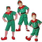 Weihnachtself Kostüm Elfen Outfit Erwachsene Kinder Weihnachtskostüm...