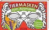 Tiermasken: zum Ausmalen: Zum Ausmalen | 20 formgestanzte Masken zum...