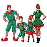 Xingsiyue Weihnachtself Kostüm Set, Unisex Erwachsene Kinder Baby...