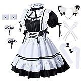 Anime Französische Dienstmädchenschürze Lolita Kostüm pelzige...
