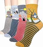 Damen-Socken – niedliches Tier-Design, Baumwolle, lustig, lässig,...