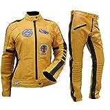Fashion_First Damen Uma Thurman Kill Bill The Bride Gelb Biker Kostüm...