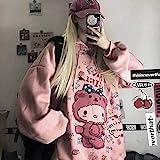 Hoodie Japan Style Kawaii Harajuku Anime Rosa Loose Streetwear...