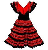 Flamenco-Kostüm für Mädchen und Damen, mit schwarzen und weißen...
