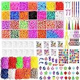 Loom-Bänder-Set für Anfänger, 16.000 Gummibänder in 28 Farben, 425...