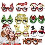 GoHist 9 Paare Weihnachten Brille Weihnachtsbaum Rentier Spaßbrille...