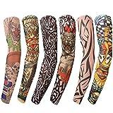Benbilry 6 Stück Tattoo Ärmel Tattoo Armstrumpf Tatoo Armstrümpfe...