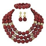AfricanBeads 20 mm Granat Perlen, Afrika Afrika nigerianische Hochzeit...