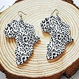 Damen Ohrringe,6 Cm Holz Afrika Karte Typisch Afrikanische...