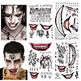 HOWAF 82 stücke Harley Quinn Tattoo Joker Temporäre Tattoos Body Art...