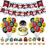 Decoration Among us Theme Us Birthday Party Banners Decoration Set...