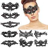 Masken Venezianische,9er Pack Lace Masquerade Masks Damen Frauen...