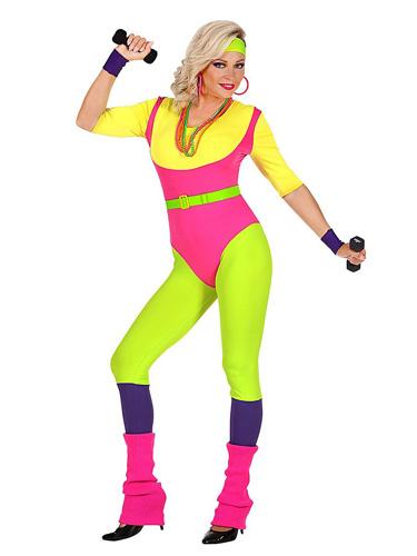 80er Jahre Bad Taste Outfit Kostüm Damen