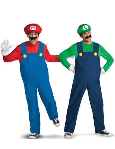 Paar Kostüm Mario und Luigi