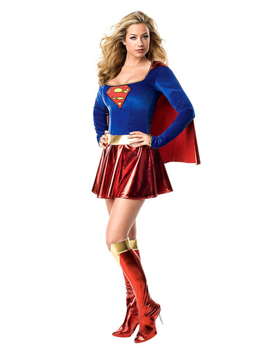 Superwoman Supergirl Kostüm Damen