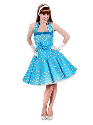50er Jahre Rockabilly Grease Kostüm Damen