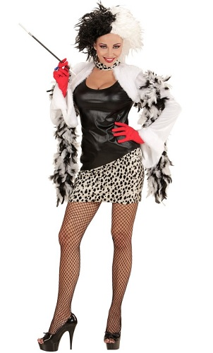Cruella de Vil Kostüm Damen
