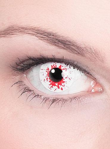 Farbige Halloween Kontaktlisen mit Stärke Blut