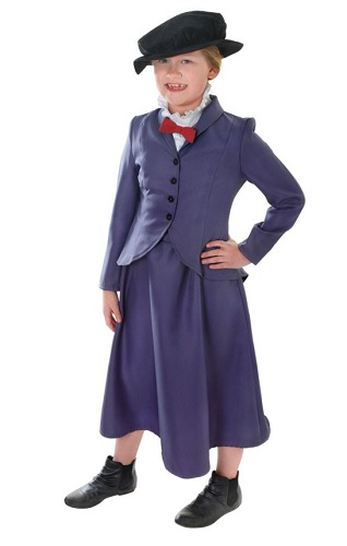 Kindermädchen Mary Poppins Kostüm Kinder