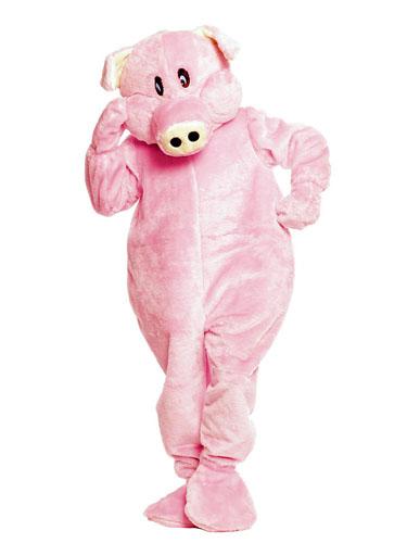 Maskottchen Kostüm Schwein
