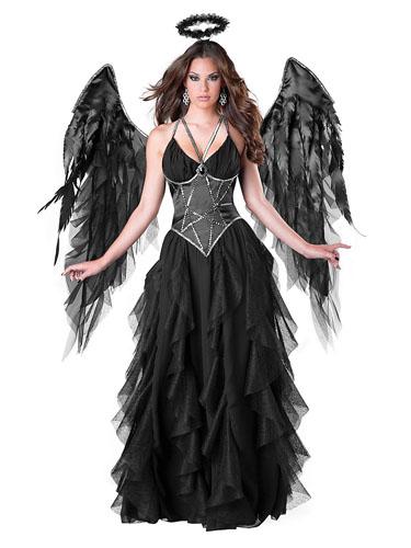 Schwarzer Engel Kostüm Damen