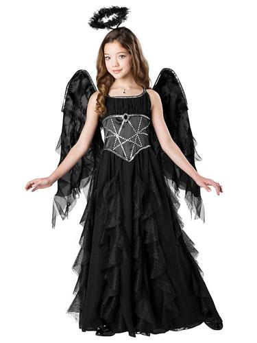 Schwarzer Engel Kostum Gefallener Todesengel Fur Damen Kinder