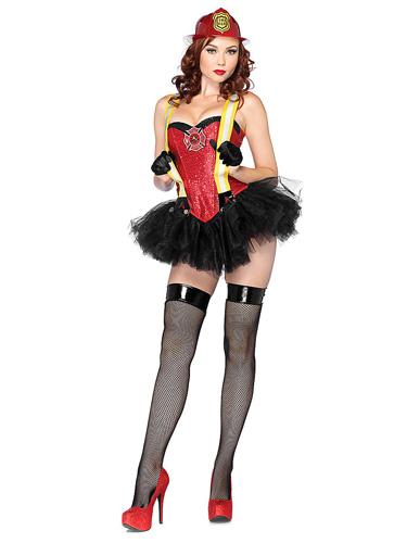 Sexy Feuerwehrfrau Kostüm - Feuerwehrmann Kostüm Damen