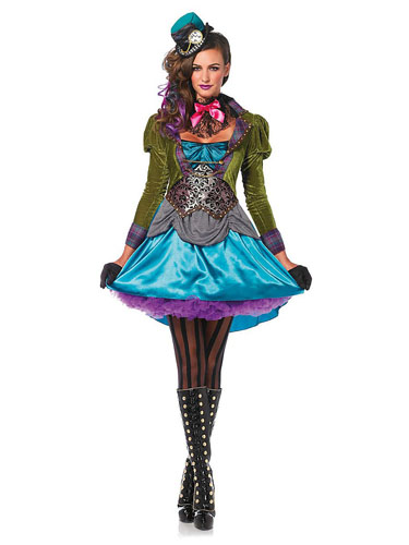 Verrückter Hutmacher Kostüm Damen (Hutmacherin)