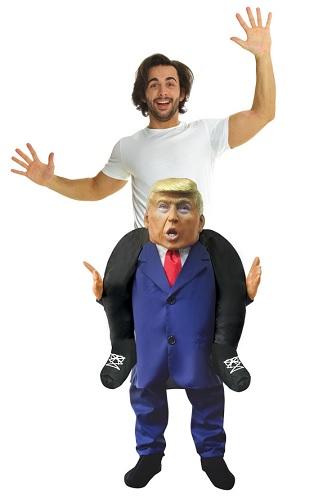 Donald Trump Kostüm Huckepack
