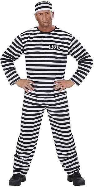Bankräuber Kostüm Sträfling Kostüm