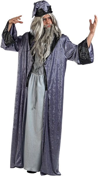 Weißer Zauberer Kostüm Magier Herrenkostüm Gandalf Dumbledore Merlin Verkleidung