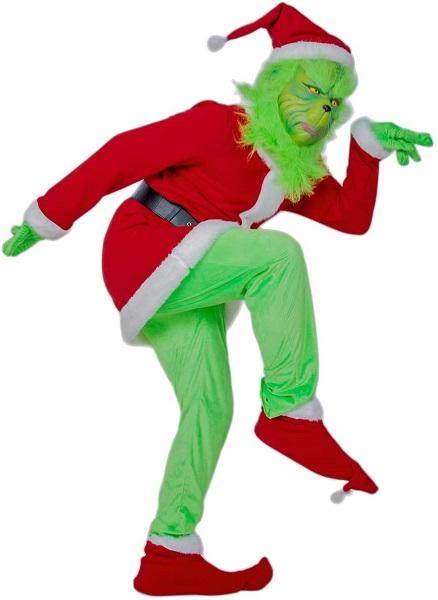 Grinch Kostüm Damen Frauen Herren Männer Erwachsene