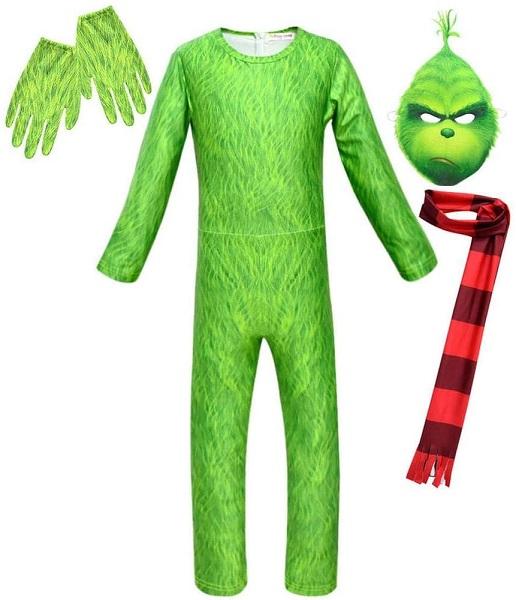 Grinch Kostüm Kinder Jungen Mädchen