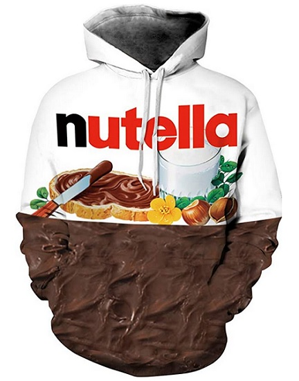 Nutella Hoodie Pullover Nutella Kostüm